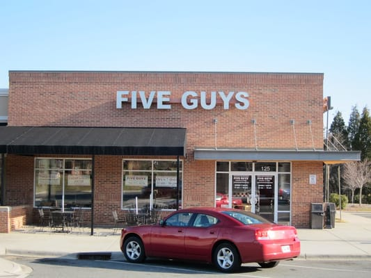 Five Guys Burgers and Fries Opening Times in Charlotte, NC