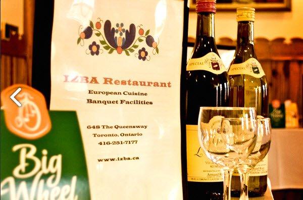 Izba Restaurant Opening Times in Etobicoke, ON