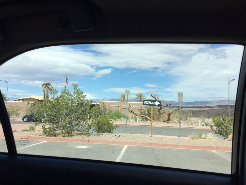 Photo of Furnace Creek Visitor Center - Death Valley, CA, United States. View of the front from parking lot