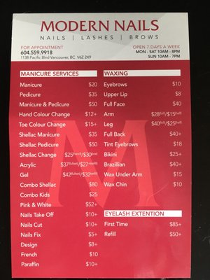 Modern Nails Prices : modern, nails, prices, MODERN, NAILS, Salons, Pacific, Blvd,, Yaletown,, Vancouver,, Phone, Number