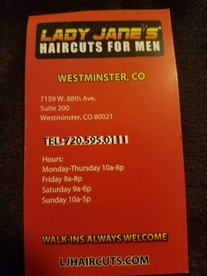 Lady Jane's Haircut Prices : jane's, haircut, prices, JANE'S, HAIRCUTS, Photos, Reviews, Men's, Salons, Westminster,, Phone, Number