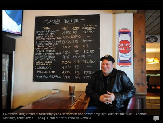 The Korner Pub Opening Times in Pittsburgh, PA