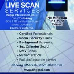 Briggs International 12v Illuminated Switch Wiring Diagram Security Services 1611 Pomona Rd Corona Photo Of Ca United States Providing Mobile Live Scan
