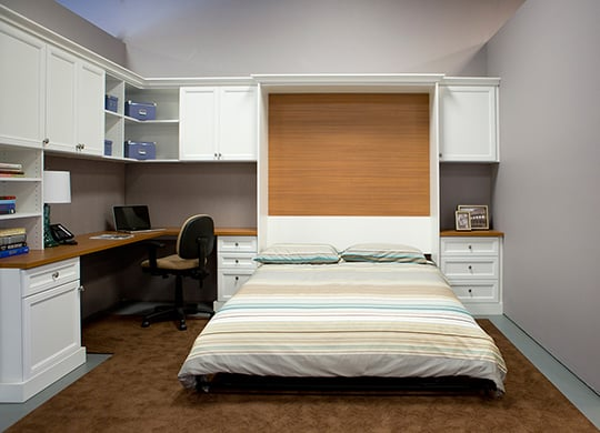 Combination Home Office Guest Room With Pull Down Wall