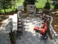 Complete backyard makeover, with paver patios, custom ...