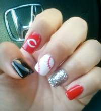 Cincinnati Reds Baseball Nail Design by Eric :) | Yelp