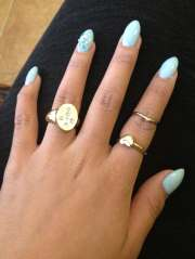 almond shaped french manicure