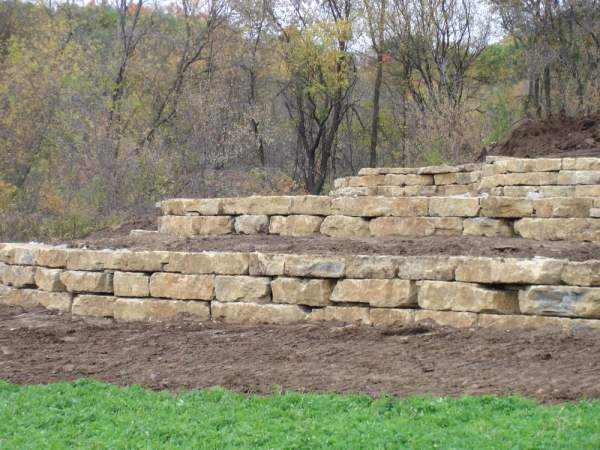 limestone retaining wall - yelp