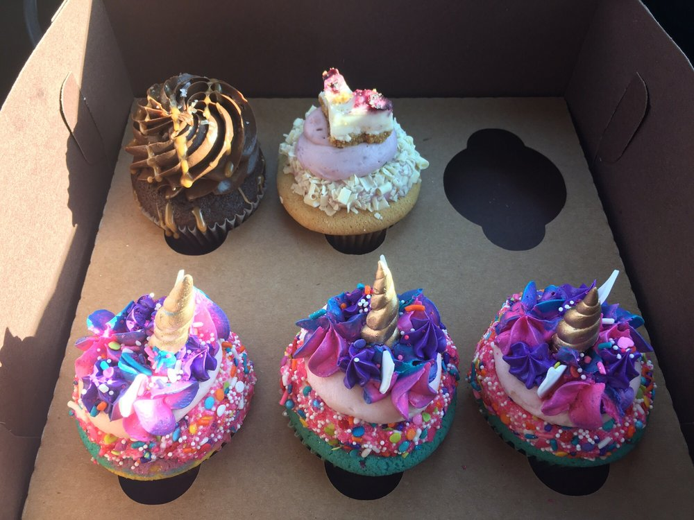 Unicorn Cupcakes! They Give Them A Thumbs Up!