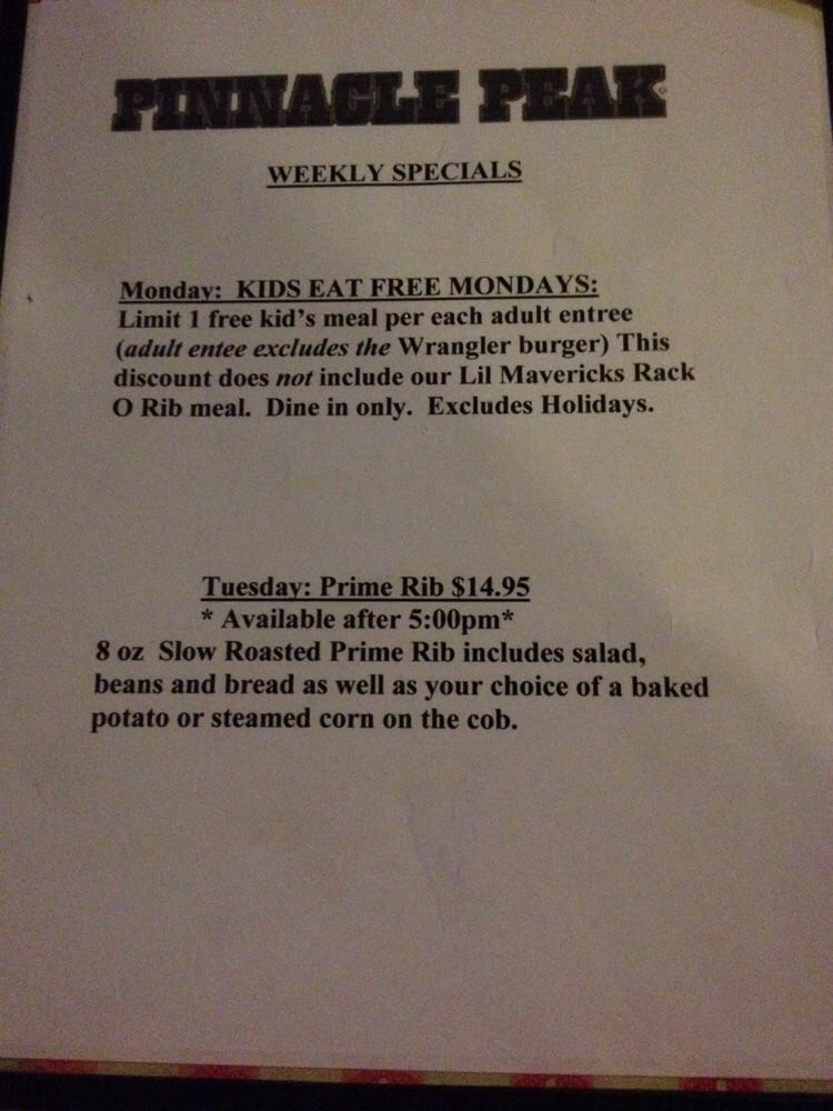 Steakhouse Specials Near Me