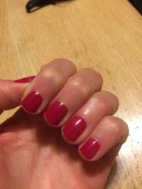 Short Round Red Nails - Nail Ftempo