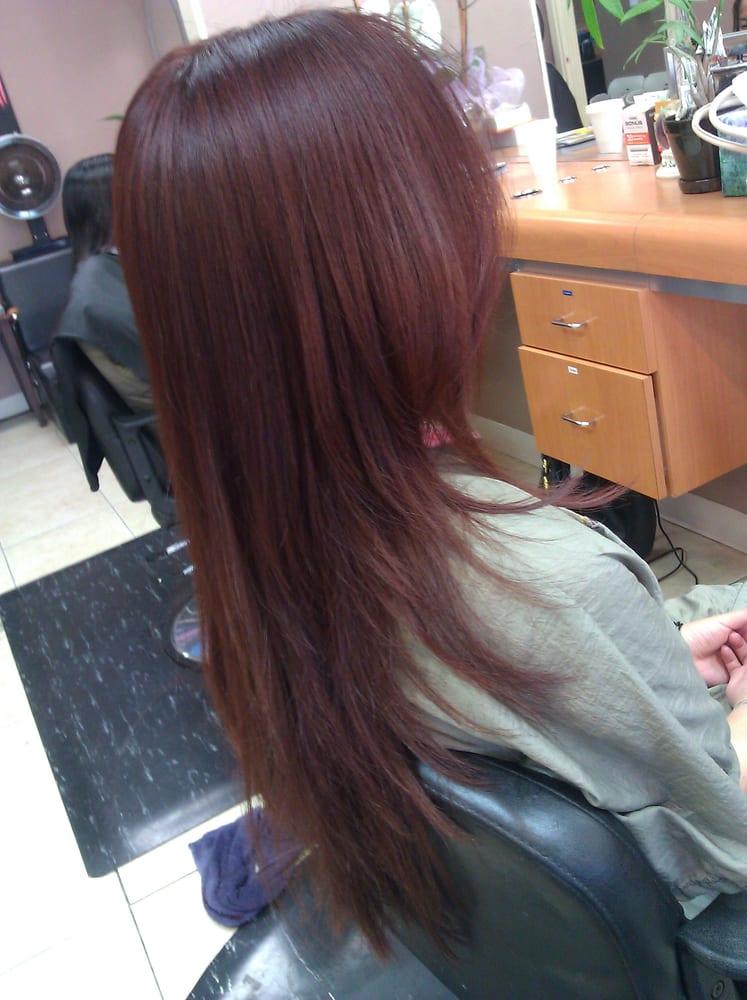 v layered haircut yelp