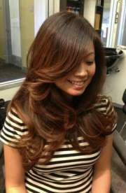 soft ombre hair color and cut