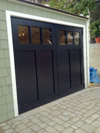 Craftsman style swing out carriage garage doors. - Yelp