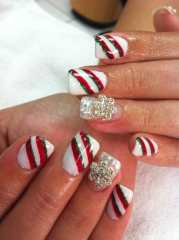 merry christmas - candy cane gel