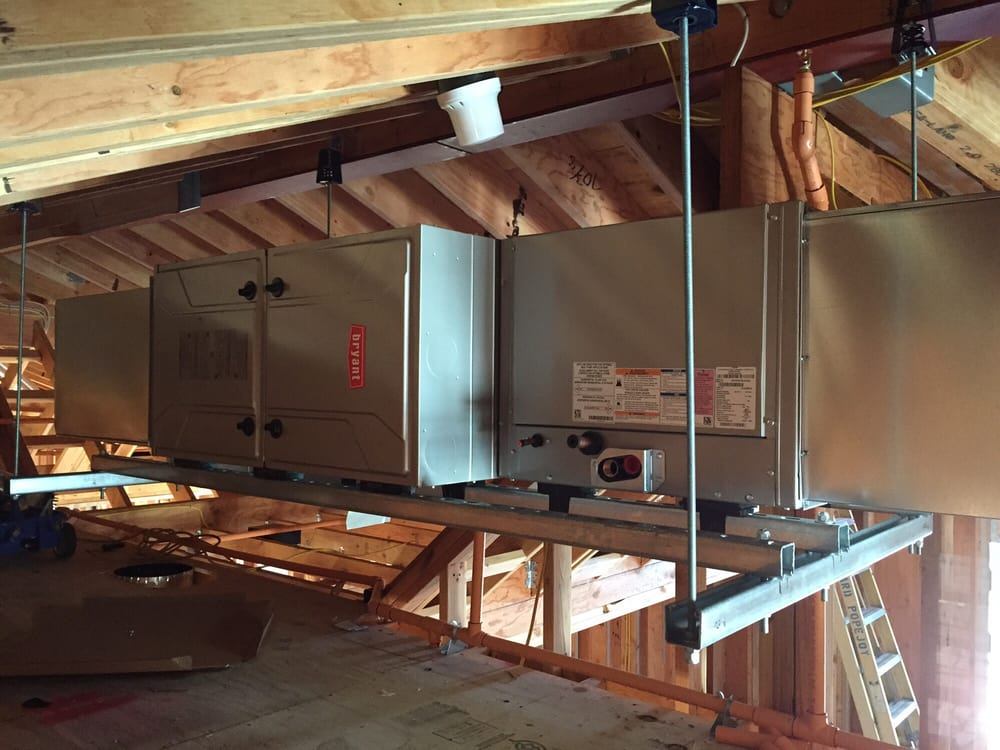 New construction 96% efficient Bryant furnace with coil