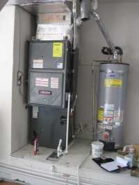Amana furnace and AC replacement in Garage