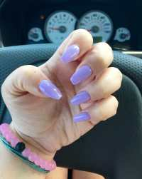 Beautiful lavender coffin nails by Cindy! I'm in love & I ...
