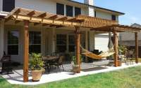 We do covered patios as well as pergolas, awnings, arbors ...