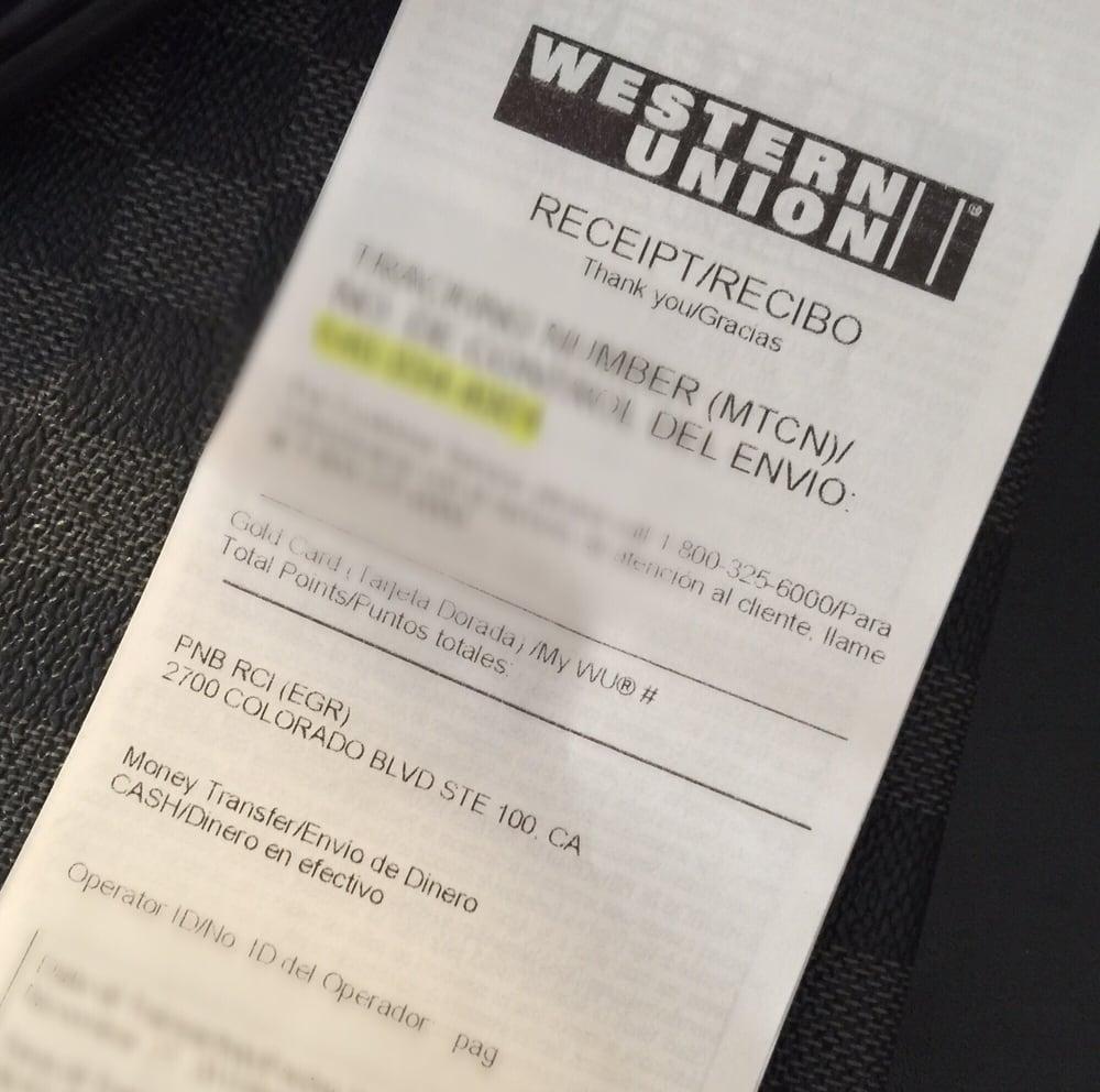 Western Union Sender Form