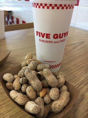 five guys order food