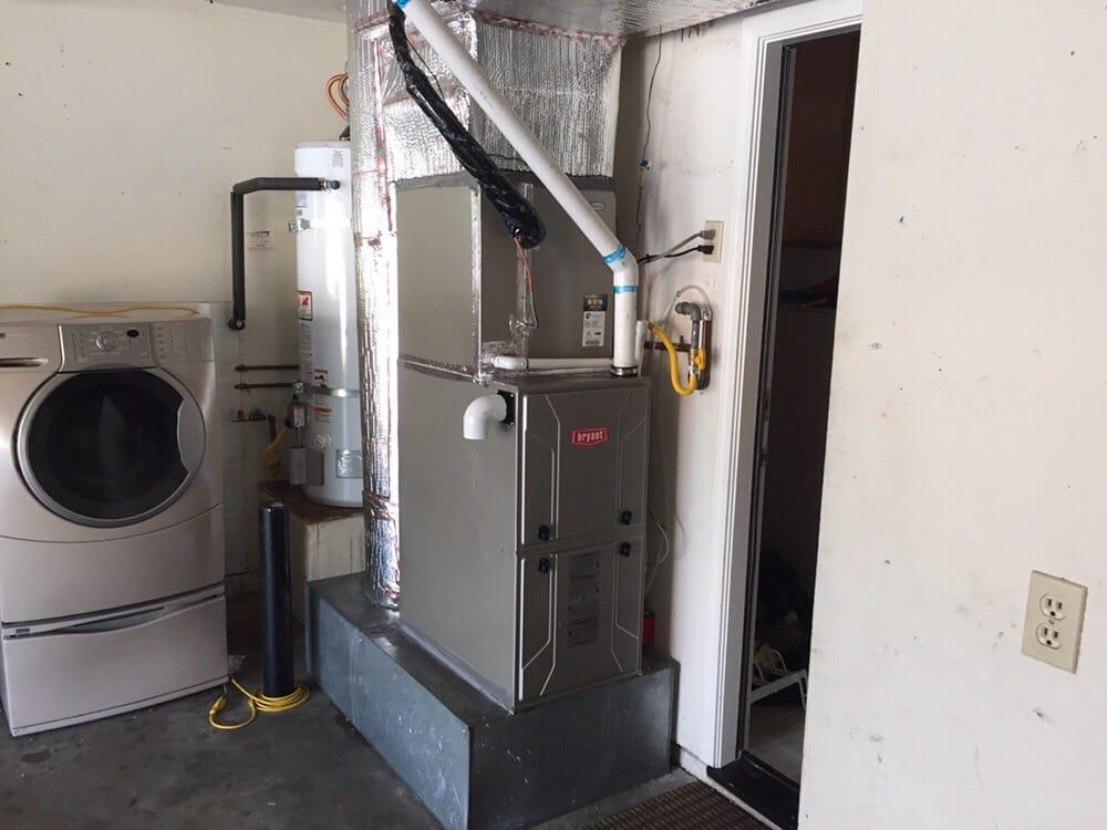 Bryant high efficient furnace in garage
