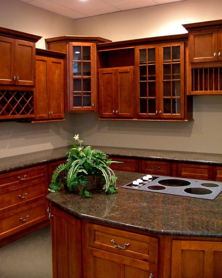 American Cherry Shaker Kitchen Cabinets  Yelp