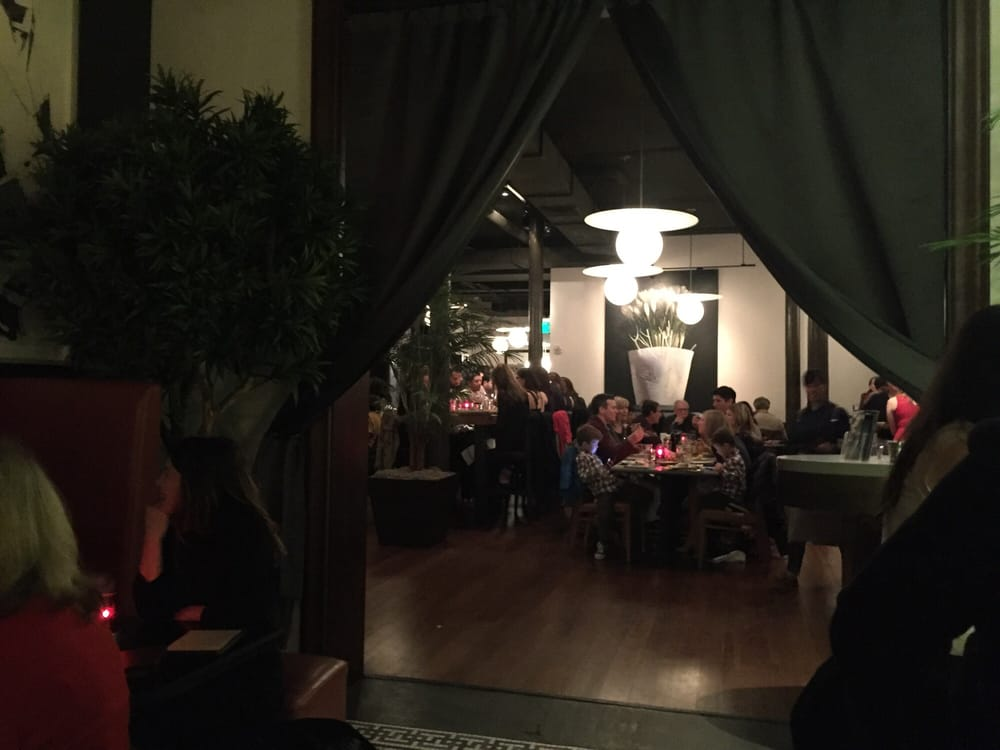 The dining room is packed  Yelp