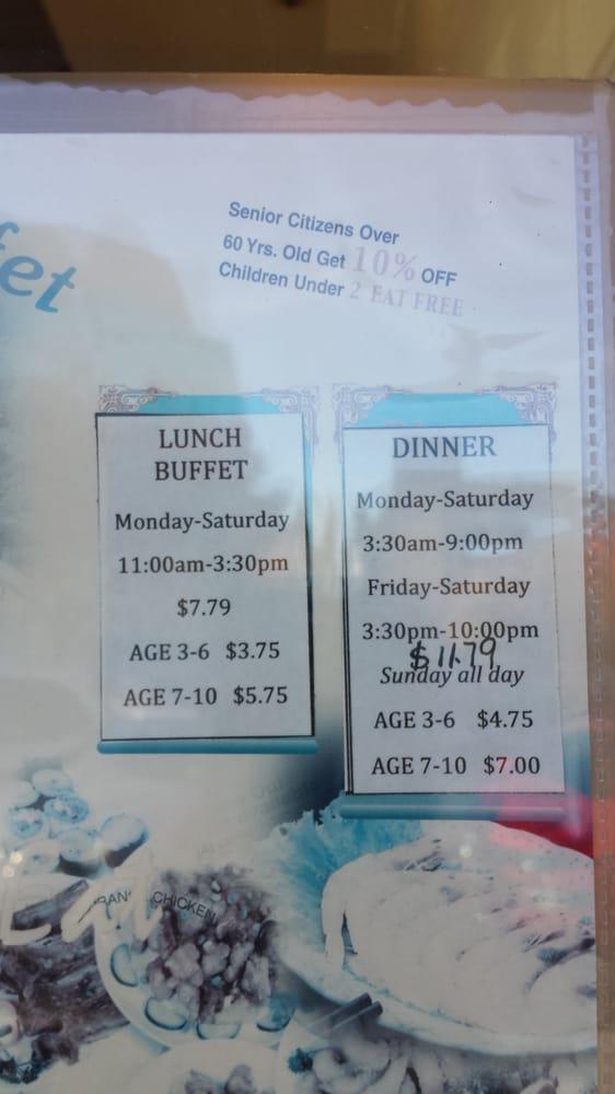 Chinese Dinner Buffet Near Me