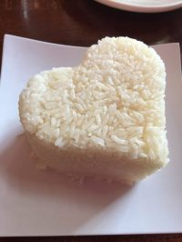 Heart shaped steamed rice - Yelp