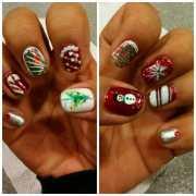 natural nails. shellac. holiday
