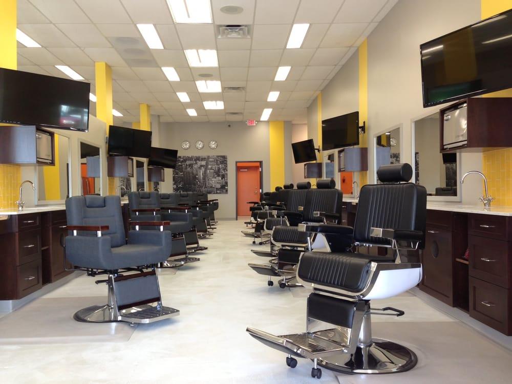 27 barber stations  Yelp