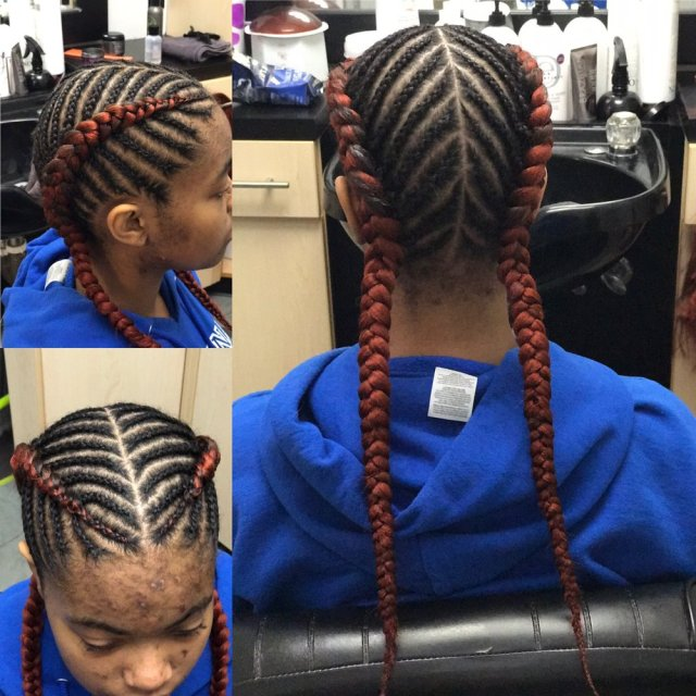 inspired by allen iverson; dutch braids with hair added - yelp