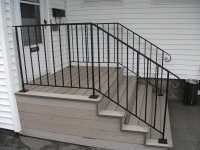 Exterior Wrought Iron Handrails on Composite Steps | Yelp