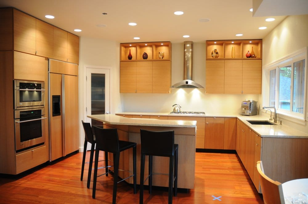 FSC certified rift sawn white oak modern kitchen cabinets