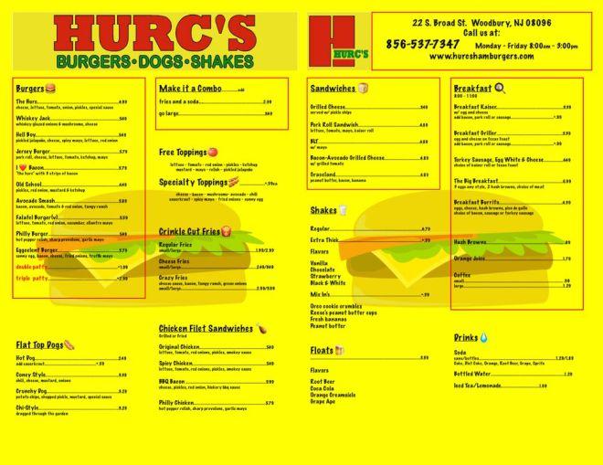 Photo of Hurc's - Woodbury, NJ, United States. Menu