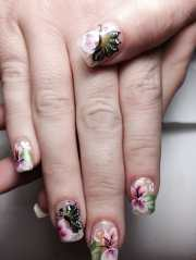 butterfly & floral nail art - yelp