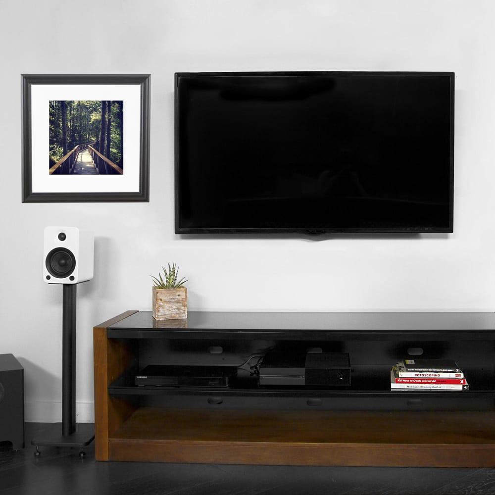 kanto pdx650 tv mount, mesa 64 av stand, yu5 bookshelf speakers