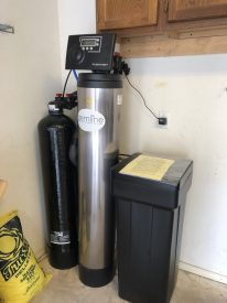 60,000 grain Gemline Water softener install with carbon filter