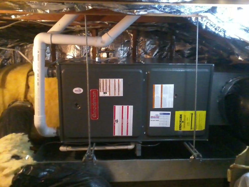 Horizontal Attic Furnace Install