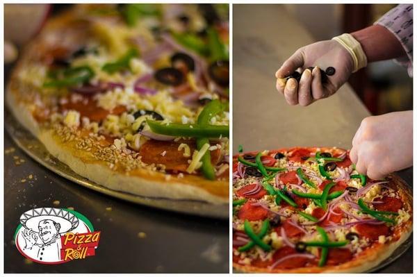 pizza roll pizza av