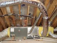 Trane xl80 2 stage furnace in attic, custom installation