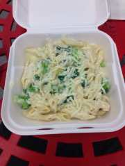 angel hair pasta with alfredo sauce