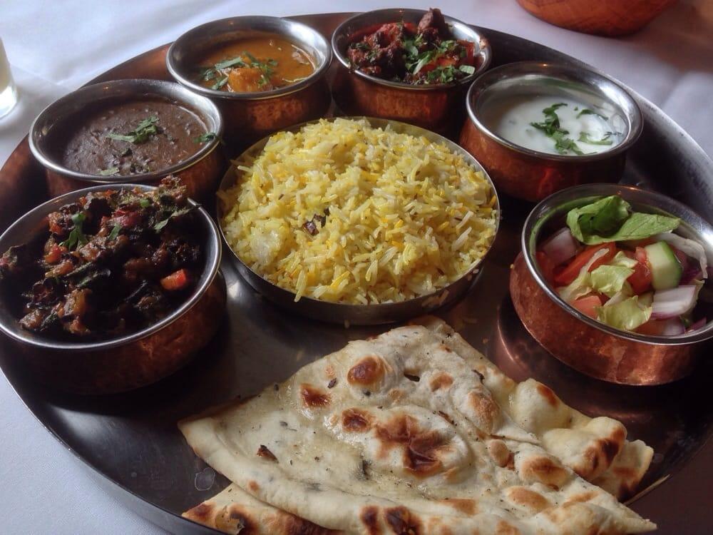 Vegetarian Indian platter in London