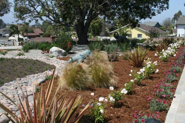 inviting front yard landscape