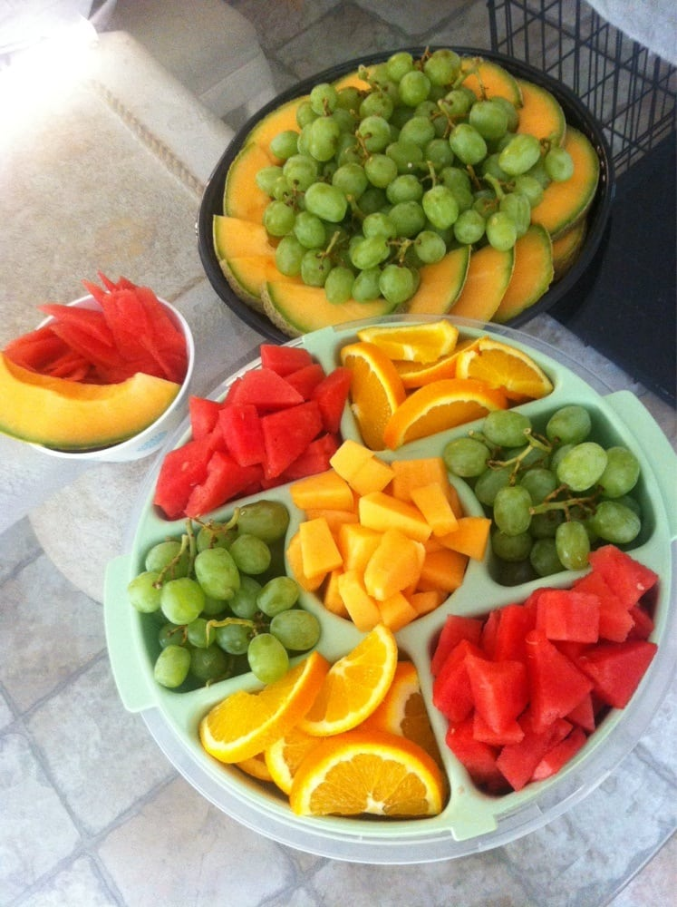 Homemade FRUIT TRAYS for under 10 Grapes Cantaloupe