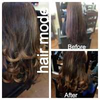 Biolage hair color, layered cut, and blow dry. - Yelp