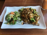 Chicken pad see you lunch special. Comes with a side salad ...