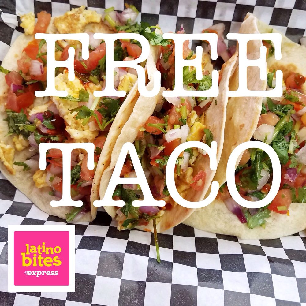 FREE TACO when you show your coupon at the counter Dont have a coupon Sign up and get it