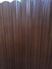 Dura fence (wood color) - Yelp